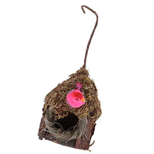 Sharplace Nichoirs Nid D'oiseau Cage Oiseau/Maison de Lit pour Pigeon Perroquet - F: Maison en Bois