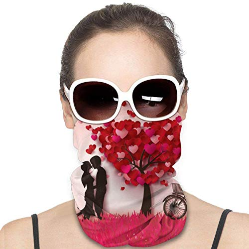 Couple Under The Tree Bicycle Headwear Neck Gaiter Headwrap Mask Balaclava Helmet Liner Scarf Sports Casual For Men Women Customized