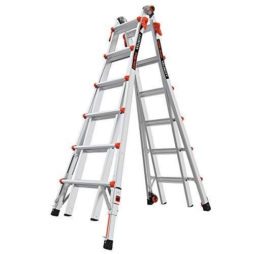 Little Giant Ladders Velocity Step Ladder with Ratchet Levelers 26 ft