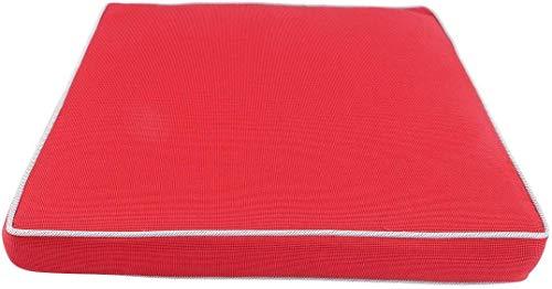Stuhlkissen Kissen Wasserabweisend Outdoor CB Home & Style 40 x 40 cm (Rot)