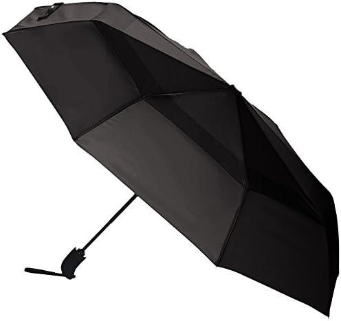 Amazon Basics Automatic Open Travel Umbrella with Wind Vent Grey product image