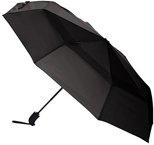 AmazonBasics - Regenschirm mit Windfang, Grau