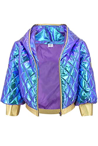DAZCOS Akali Cosplay Costume Glittery High Waisted Jacket for Women (Small)