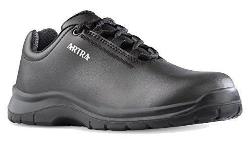 Artra ARRIVA Arbeitsschuhe schwarz Schnürer MIT Stahlkappe S2 für Damen und Herren (43)
