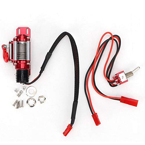 T best RC Winch, Electric Winch Automatic Simulated Winch RC Model Vehicle Winch Fit for 1:10 Simulation RC Car Accessory