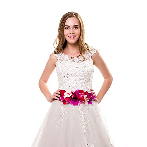 Ever Fairy moda flor cinturones para mujer