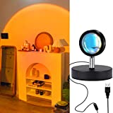 Sunset Projection Lamp, 180 Degree Rotation Led Sunset Lamp, Romantic Influencer Light Projector Sunset Lamp with USB Charging Visual Mood Lighting Lamp Home Party Living Room Bedroom Decor-Sunset
