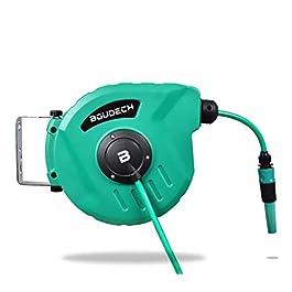 Enrouleur de tuyau d'arrosage automatique équipé d'un pivot de jardin et enrouleur avec pompe de 10 Mt