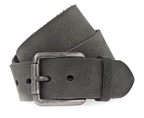 Vanzetti Gürtel, Unisex Ledergürtel, gewachst, 45 mm breit, schwarz, 105 cm