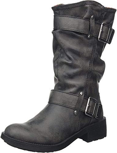 Rocket Dog Women's Trumble Biker Boots, Black (Black Galaxy), 8 UK 41 EU