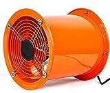 XGHW Ventilador utilitario Ventilador de Alta Velocidad Tubo de ventilación Extractor de Polvo de Humos Bajo Nivel de Ruido Gran Volumen de Aire Inodoros industriales/baños/cobertizos/talleres (8 pul