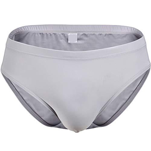 S-XL Ice-Silk Herren Slips Männer Strings Unterhosen Unterwäsche Unterhose Schlüpfer Underwear Panties Briefs Underpants Retroshorts CICIYONER