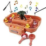 FORMIZON Juguete de Pesca, Juguetes de Baño Bebe, Juguetes Bañera Juguetes Piscina para Niños, Juguetes de Pesca con Música, Juegos de Agua para Niños Niñas (Rosado)