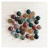 PINGPUNG Cristal áspero Moda 8mm Natural India Onyx Redondo Cuentas de Piedra Sin Agujero para Accesorios de joyería al por Mayor 50pcs / Lot