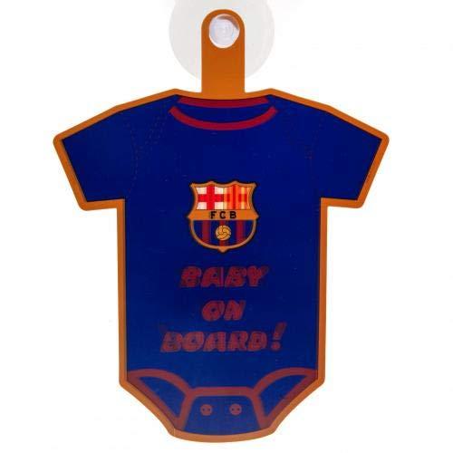 """FC Barcelona Schild mit Aufschrift """"Baby on Board"""", offizielles Lizenzprodukt"""