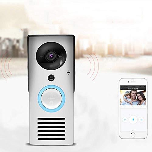 Doorbell WiFi-video-deurbel met pir-bewegingsdetectie, HD 1080P-camerabeeld, nachtzicht, tweeweg-gesprek, telefoonring