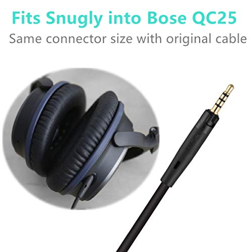 1-Pack, Black AE2i QC35 JBL SoundTrue and Audio-Technia QuietComfort 25//35 AE2 SoundLink LASMEX 2.5mm to 3.5mm Audio Cable 3.9ft Headphone Aux Cord Compatible for Bose QC25 AKG AE2w