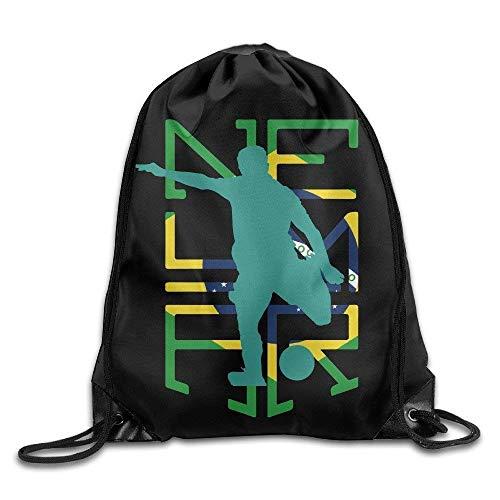 HiExotic Eco-Friendly Turnbeutel Hipster Neymar Brazil Soccer Sport Backpack Drawstring Print Bag