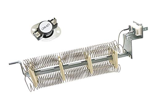 Ecumfy LA-1044 Dryer Heating Element with replacement high limit thermostat L248-80 Compatible with Whirlpool Magic Chef AP4242494 PS2162280 LA1044