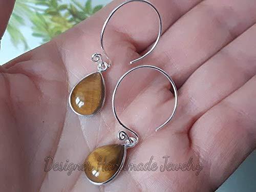 earrings for wife gift for Mother/'s Day girlfriend drop earrings Easter Tiger eye earrings silver 925