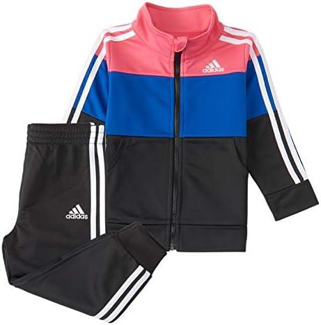 adidas Girls Tricot Jacket Jogger Active Clothing Set Real Pink Blue Black 4 product image