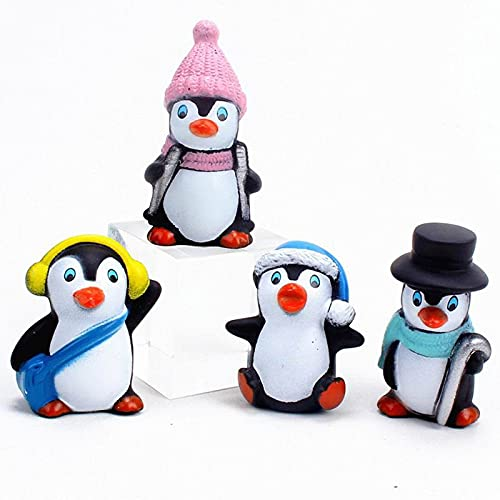 Figurine De Pingouin FéE Miniature Pingouin Figurine Pingouin Figure ModèLe OcéAn Polaire Animaux Figurines De La Maison Enfants Jouet éDucatif Mini Penguin Accueil DéCorations Accessoires 4 PièCes