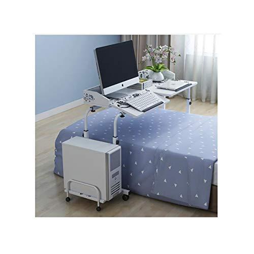 HENG Computertisch, Doppelbett Computertisch, Desktop-Computer-Tisch, einfach und modern mobiler Schreibtisch for zu Hause, Laptop-Computer Tisch, rosa 1,4 m (Color : White, Size : 140CM)