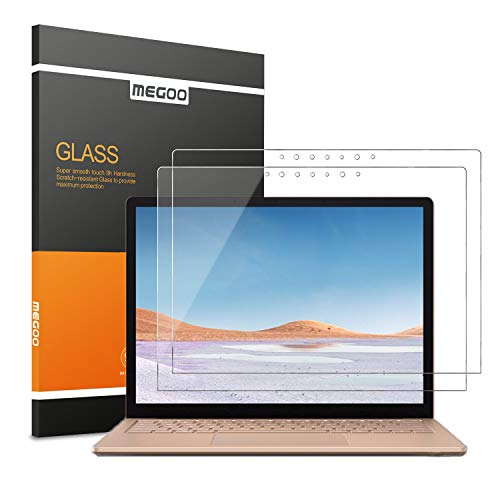 [2 pack]Megoo Tempered Glass Screen Protector For Microsoft Surface Laptop 3 (15 inch), Easy Installation, 2.5D Round, High Transparency Screen Protector