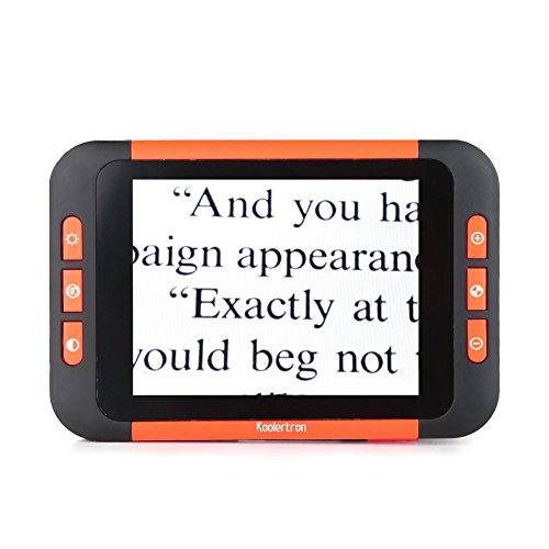 Koolertron 3.5 inch LCD Portable Video Digital Magnifier Electronic Reading Aid for Low Vision - Ideal Aide for Reading, Writing, Viewing Maps, Books - Handheld Digital Tool