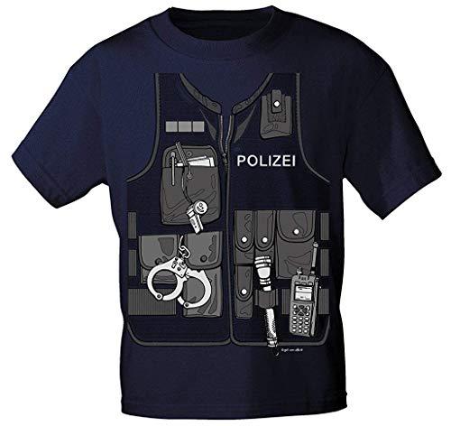 Kinder T-Shirt mit Vorder- und Rückenprint - Polizei - 12792-98-164 Size 134/146