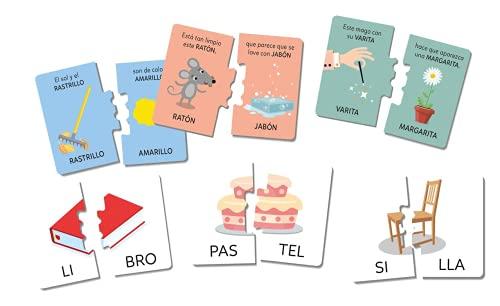 Clementoni-55310 - Juegos de Lectura - juego educativo a partir de 5 años