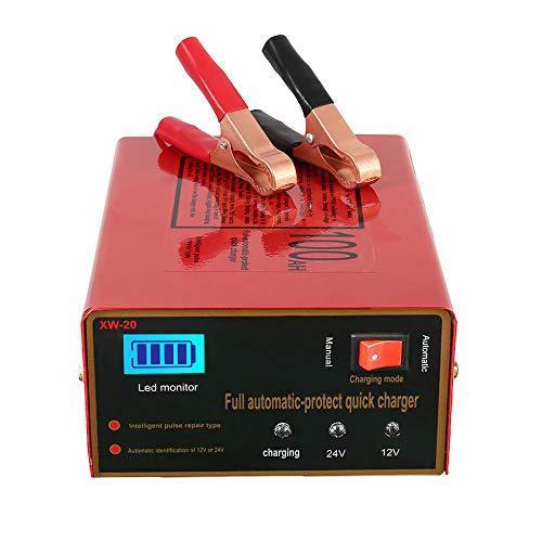 12V/24V Chargeur de batterie pour voiture intelligent automatique Mainteneur, au Lithium, Plomb...