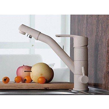 Jinrou/moderna cucina contemporanea tocca Retro bianco finitura verniciatura a 3 vie con acqua pura di filtro a flusso singolo foro rubinetto di cucina