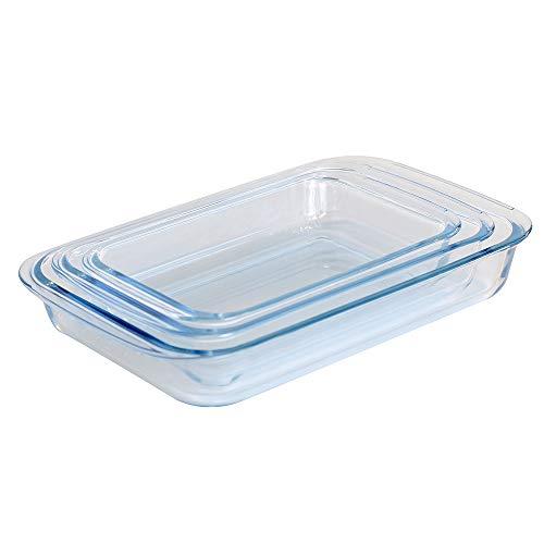 ProCook Ofenform aus Glas - rechteckig - 3-teilig - Auflaufformen - Set