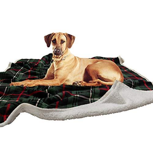Southmia Christmas Large Dog Blanket - Super Soft Plaid Green Warm Fleece Plush Pet Throw Bed Mat...