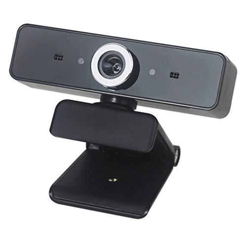 Sahgsa Webcam HD Streaming Cámara Web de 360 Grados para Video Chat y grabación para PC, computadora portátil, cámara Web Plug-and-Play USB para videollamadas, Aprendizaje, conferencias, Juegos