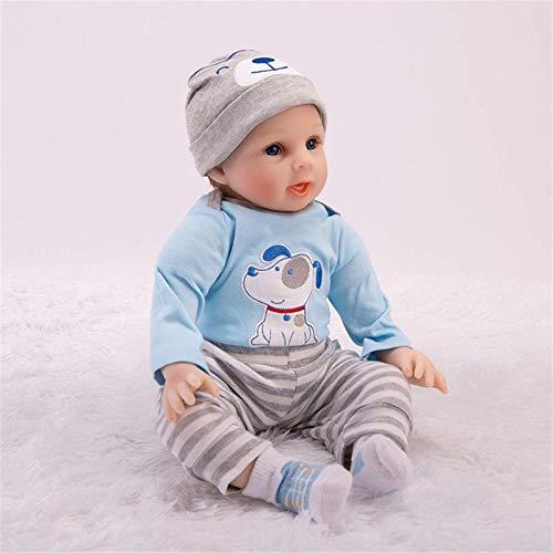 XYSQWZ Reborn Baby Doll Girl Play Dolls 22 Pulgadas 55 Cm Cuerpo Completo Lavable con Juguete Realista Azul 1214