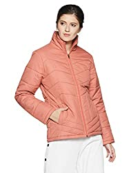 Qube By Fort Collins Womens Nylon Bomber Jacket