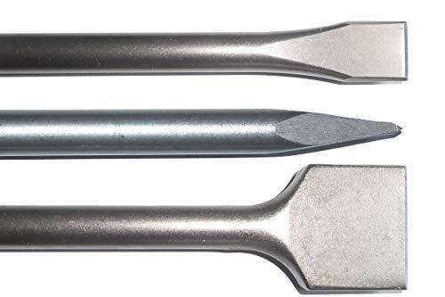 SDS MAX Meißelset Meißel 600mm lang Spitzmeißel Spatmeißel 25 x 600mm und 50 x 600mm