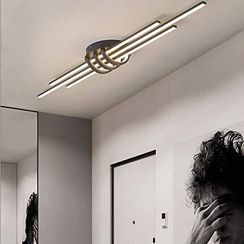 WANG-LIGHT Plafón LED 3 Luces Moderno Lámpara De Techo, Regulablecon Control Remoto Lámpara De Salón con 3 Tiras De Luz Alargadas para Dormitorios Oficina,Negro