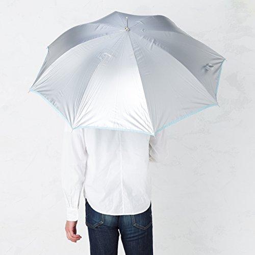 傘と日傘専門店リーベン(Lieben)日傘ブルー60cm×8本骨リーベンひんやり傘無地ジャンプ傘遮熱遮光LIEBEN-0102