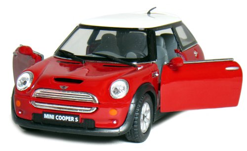 5' Die-cast Mini Cooper S 1/28 Scale (Red).