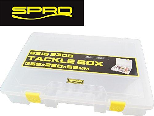 Spro Tackle Box 35,5x25x5,5cm - Angelbox für Angelzubehör, Tacklebox für Kleinteile zum Angeln, Box für Angelhaken & Posen