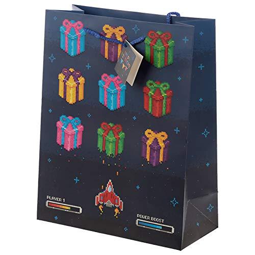 Happy Birthday Game Over Gamer Design Large Gift Bag-GBAG50A