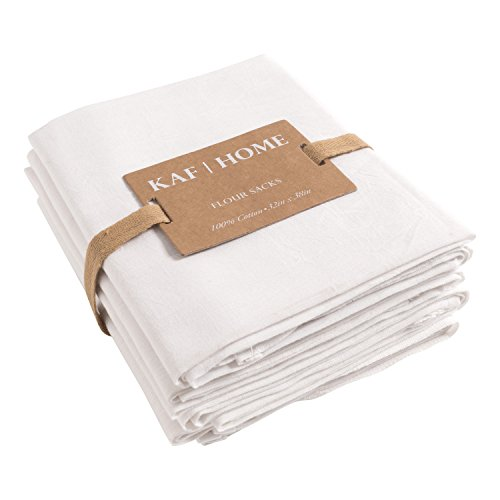 KAF Home - Juego de 4 Toallas de Cocina, 100% algodón, Color Blanco