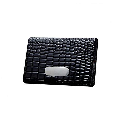 WWFCI Portemonnee, creditcards, kaarthouder, presentatiekaarten, Blanco Y Gris (zwart) - 6979012386959
