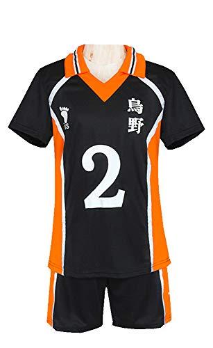 Haikyuu!! Karasuno High Volleyball No 2/1/12 Jersey Uniform Daichi Sawamura Koushi Sugawara Cosplay Costume T-Shirt