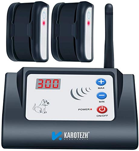 KAROTEZH Wireless Dog Fence for Pet, Electric Dog Fence Containment System with Adjustable,...