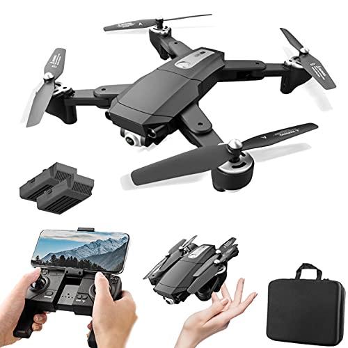 XFTOPSE S604 Pro Drone com Câmera 4K HD, Vôo de 30 Minutos, Profissional GPS Drone 3Km, 5G WIFI FPV Vídeo ao Vivo, Posicionamento do Fluxo Óptico, Siga-Me, Dobrável RC Quadcopter para Iniciantes