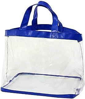 伊高(Iko) ビニールバッグ 透明 幅約39.5cm×奥行き約22cm×高さ(持ち手含む)約36cm LB-30BL